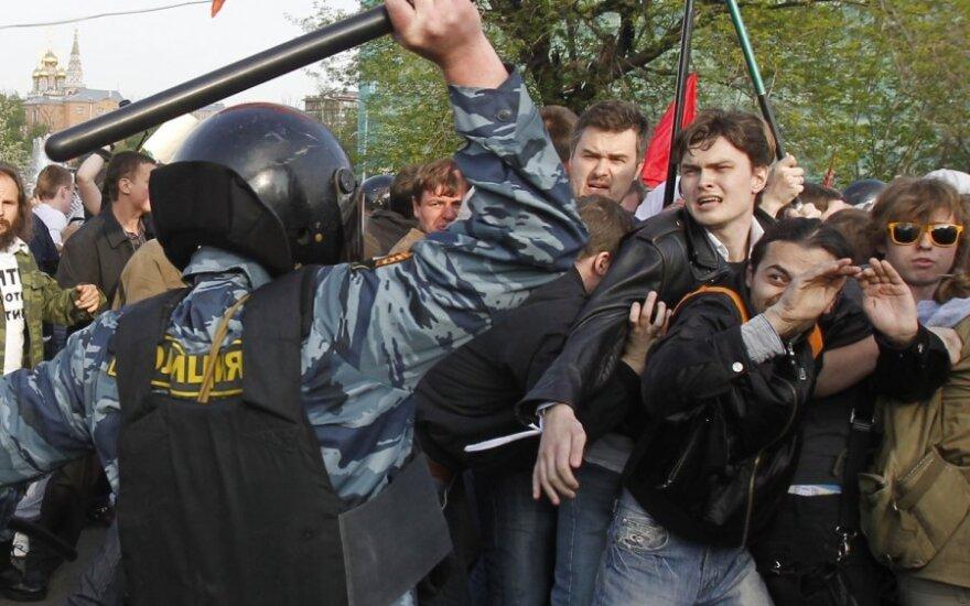 Полиции дали право применять силу для обеспечения порядка на митингах