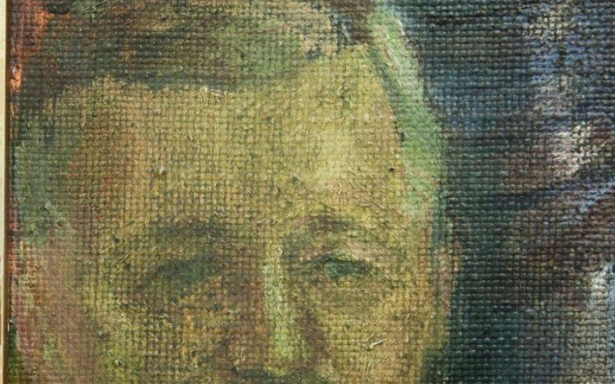 Antano Beinaravičiaus tapyto paveikslo Žalgirio mūšio tema fragmentas
