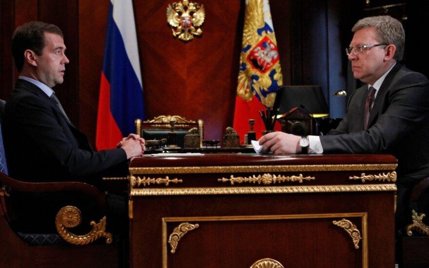 Dmitrijus Medvedevas ir Aleksejus Kudrinas