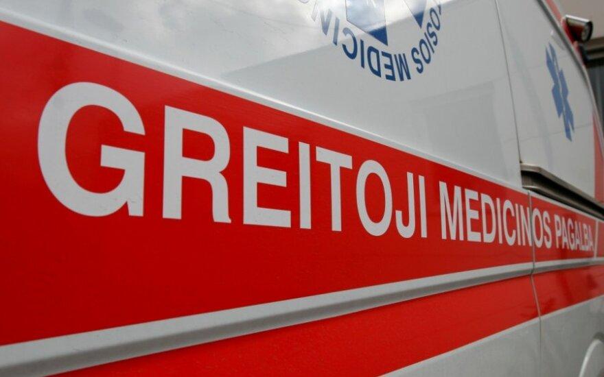 В Вильнюсе столкнулись грузовик и микроавтобус