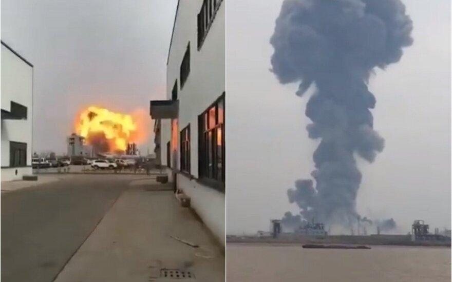 ВИДЕО: Число жертв взрыва на химзаводе в Китае увеличилось до 44 человек