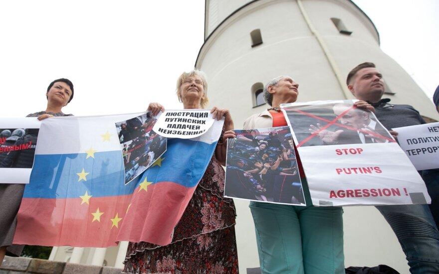В Литве прошла акция в поддержку российских протестов