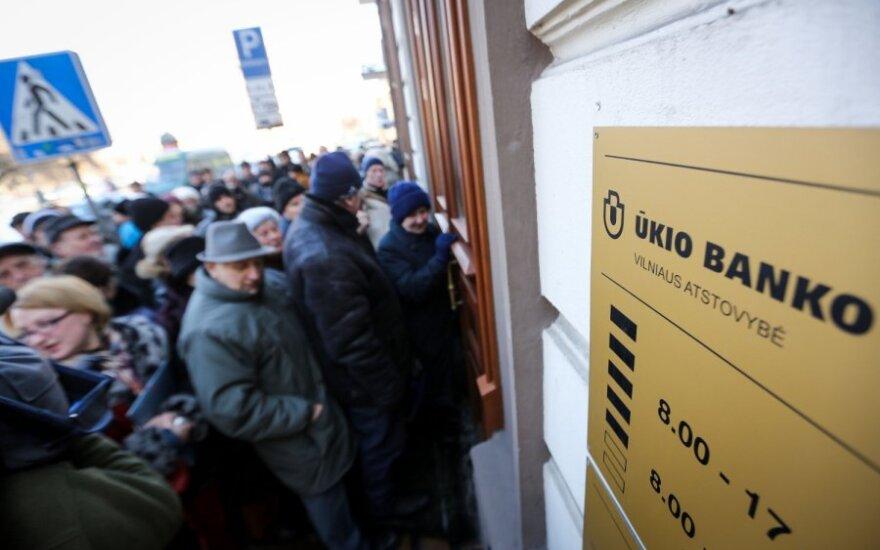 Если вклад в Ūkio bankas был меньше кредита, деньги не вернут