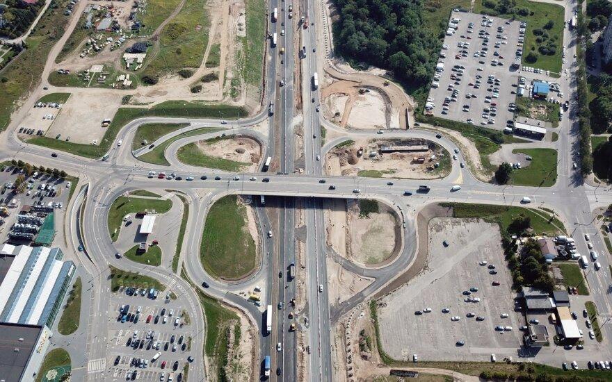 Реконструкция магистрали под Каунасом: меняется порядок движения