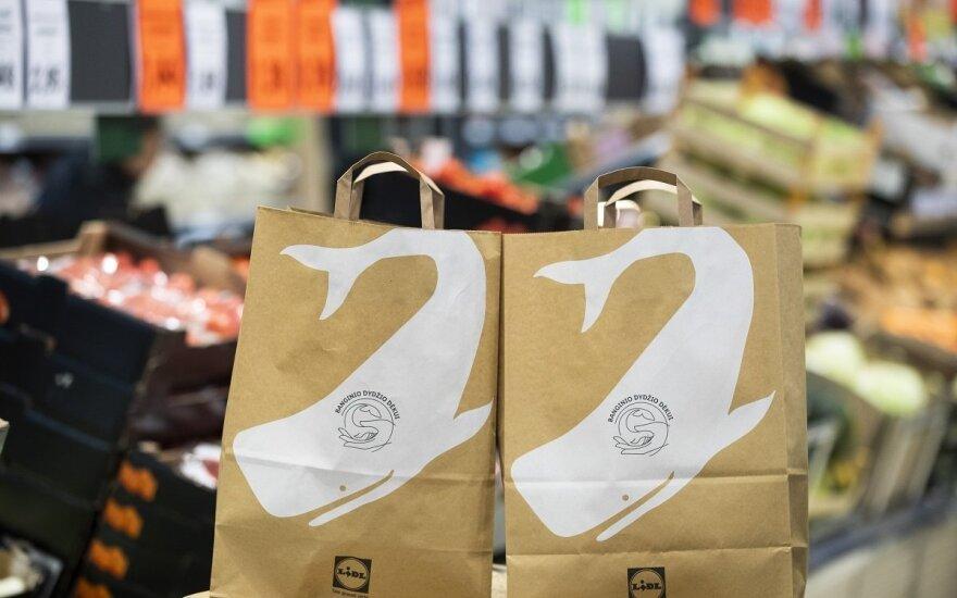 Магазины сети Lidl в Литве отказываются от одноразовых пластиковых пакетов