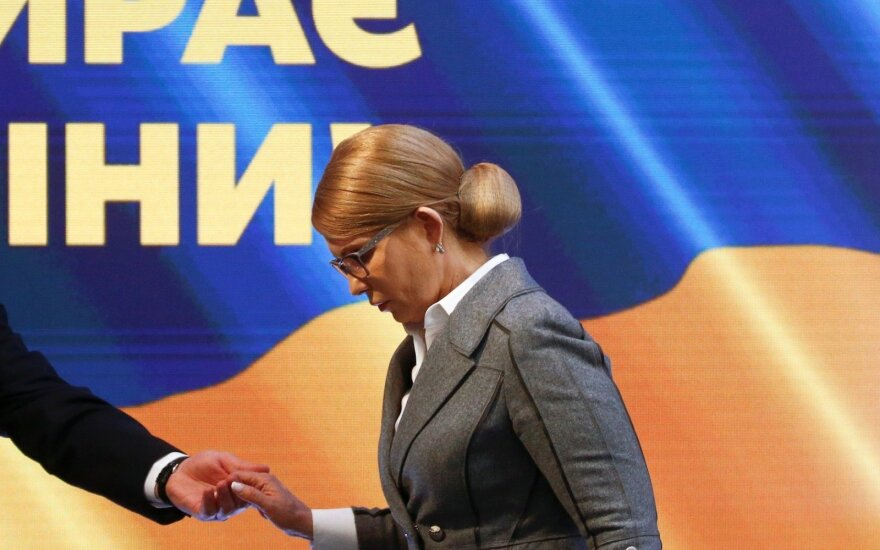 Тимошенко назвала себя второй, а данные экзит-полов не признает