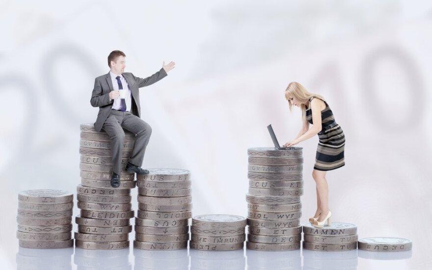 Разница в зарплате мужчин и женщин в Литве в прошлом году увеличилась