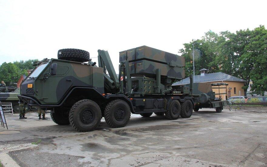 Sistemos NASAMS raketų paleidėjas. Suomijos kariuomenė