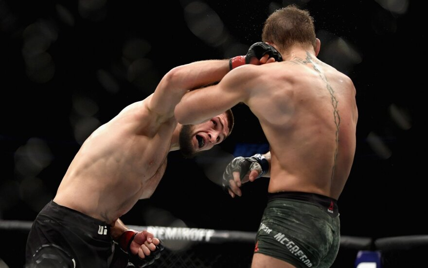 MMA dvikova: McGregoras prieš Nurmagomedovą