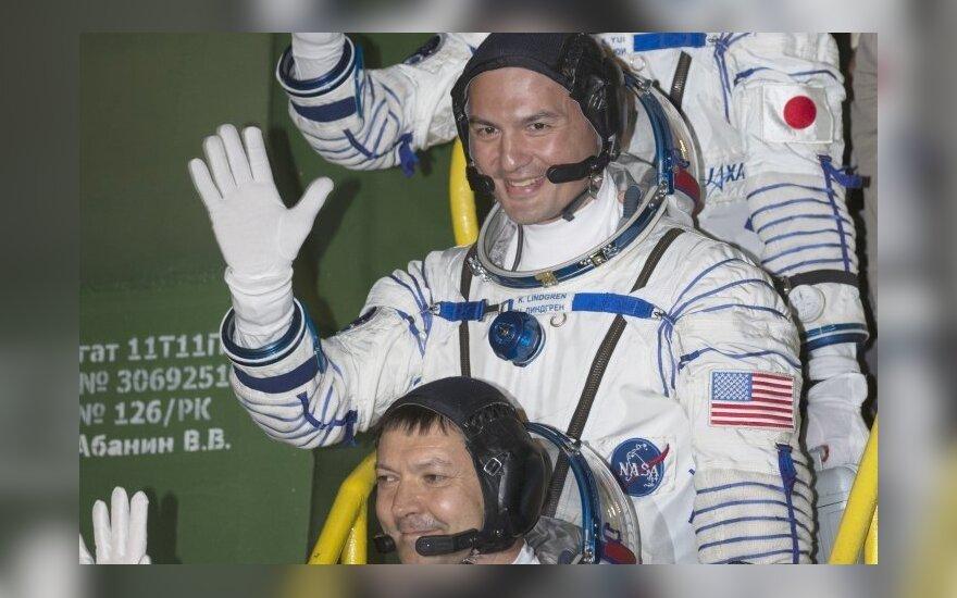 Astronautai Olegas Kononenka, Kjellas Lindgrenas, Kimiya Yui