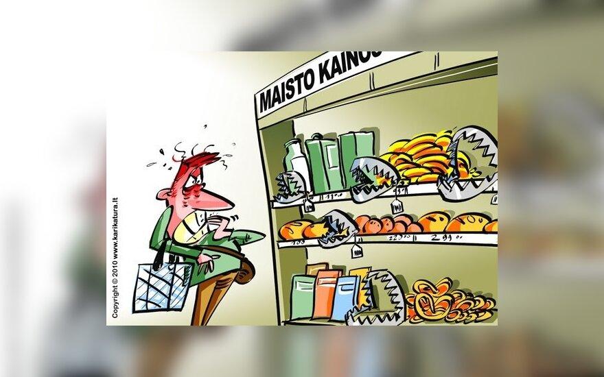 Рост цен на продукты наблюдается во всей Балтии
