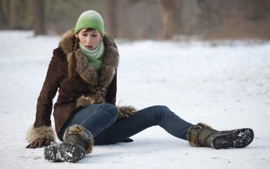Из-за зимней погоды – переломы и вывихи