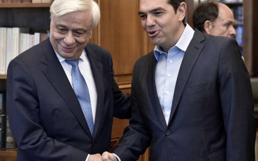 Prokopis Pavlopulas ir Aleksis Tsipras