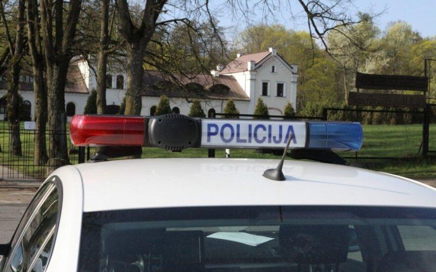 В Вильнюсе сбит мотоциклист, вызваны медики и полиция