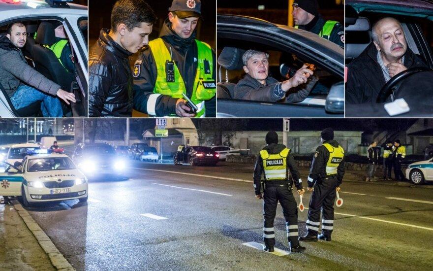Этой ночью полиция усмиряла в Вильнюсе водителей BMW и турок