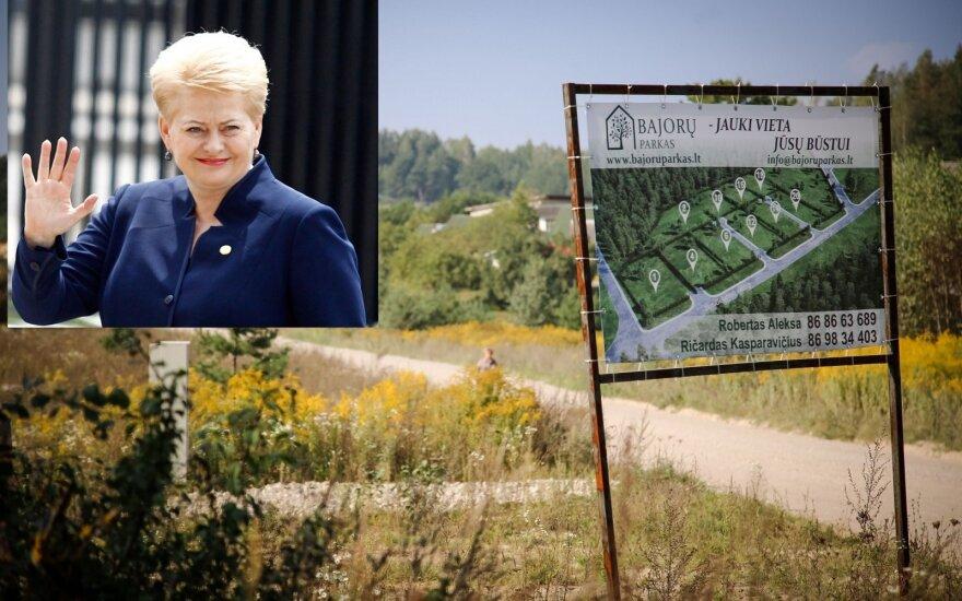 Грибаускайте купила участок земли под строительство дома в Вильнюсе