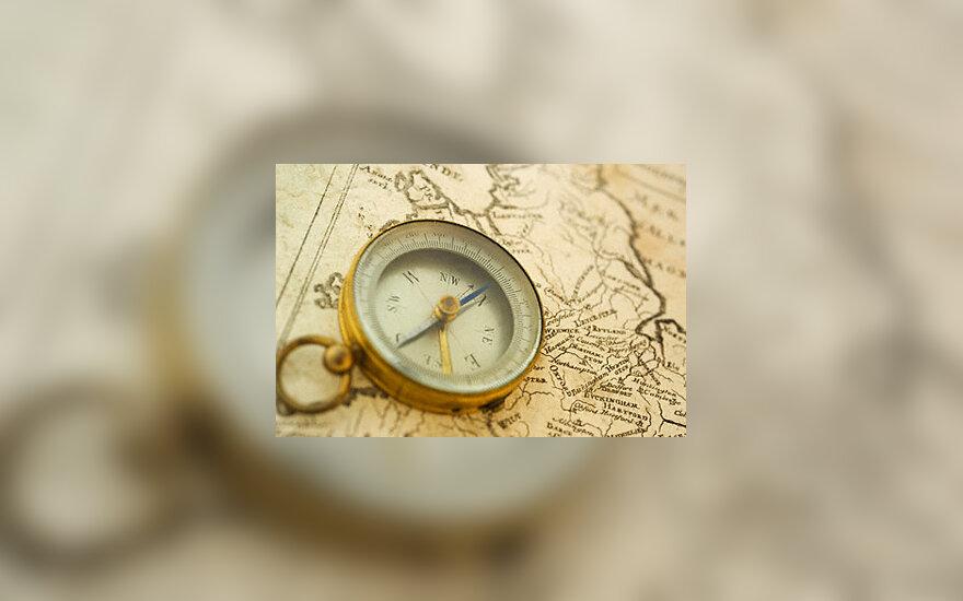 Kompasas, kelionės
