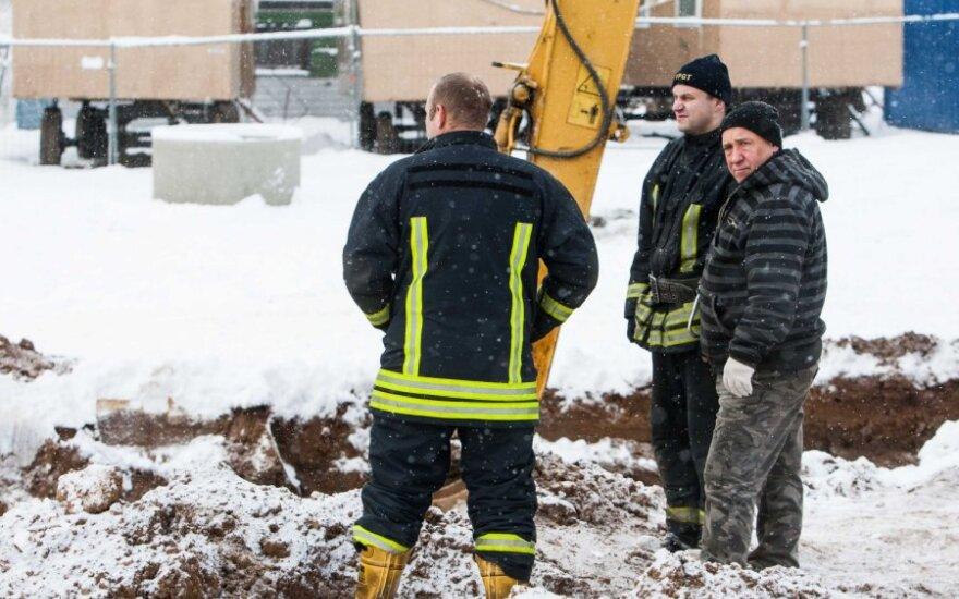 В Вильнюсе мужчина стал жертвой оползня
