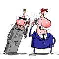 VSD klausosi telefoninių pokalbių - karikatūra