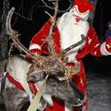 Kalėdų senelis su elniu