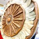 Iš cinamono lazdelių pagamintas skydas