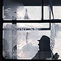 Apledėjęs langas, šaltis, žiema, speigas