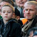 Davidas Beckhamas su sūnumi