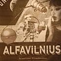 """Valentino Klimašausko knygos """"Alfavilnius"""" plakatas"""