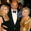 Aktorė Ashley Olsen, dizaineris Christianas Louboutinas ir aktorė Mary Kate Olsen