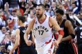 Birthday Boy Valančiūnas comes up big for Toronto to blow out Heat