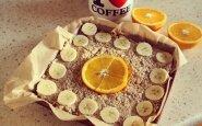 Sveikuoliškas pyragas. Avižinių dribsnių pyragas su varške