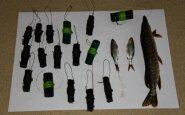Konfiskuotos žvejybos priemonės ir sugauta lydeka