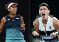 """Australian Open"" finale kovos čekė Kvitova ir japonė Osaka"