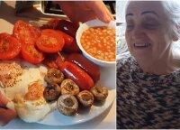 Vėlyvieji pusryčiai: močiutė pagamino visų dievinamus angliškus pusryčius