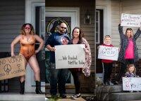 Amerikoje gyvenanti lietuvė užfiksavo karantino akimirkas amerikiečių šeimose: originalumo nestokoja