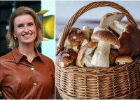 Lietuviai iš miškų grybus neša pilnais krepšiais: mitybos specialistė Vaida Kurpienė paaiškino, kokia iš to nauda