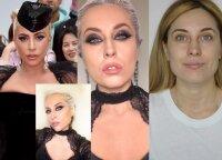 Su Lady Gaga lyginta makiažo meistrė atliko eksperimentą: teko koreguoti ir veido bruožus