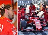 Per treniruotę Abu Dabyje – Vettelio avarija