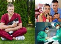 """Du vaikus auginantis """"TV Pagalbos"""" veterinaras neslepia juodosios darbo pusės: dėl to kenčia mano šeima"""