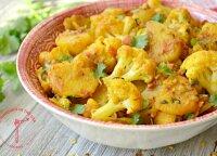 Indiškas bulvių ir kalafiorų troškinys