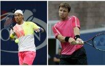 Fabio Fognini ir Ričardas Berankis (AP ir Reuters nuotr.)