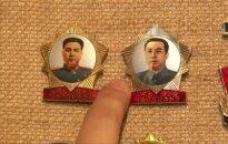 Kontrabandinė kolekcija: ženkliukai su Šiaurės Korėjos lyderių atvaizdais