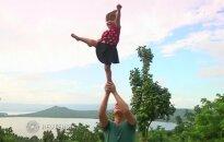 Mažoji akrobatė iš Filipinų išpopuliarėjo internete