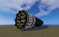 Boring machine Elon Musk's LA tunnel in MInecraft