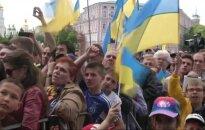 Prezidentas P. Porošenko ir sirgaliai išlydėjo Ukrainos futbolo rinktinę į Europos čempionatą