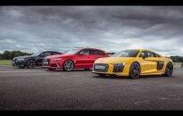 """Kuris """"Audi"""" vertas galingiausio žiedų valdovo titulo – """"R8 V10 Plus"""", RS6, ar S8?"""
