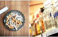 Tai tampa realybe: nuo kovo brangsta alkoholis ir cigaretės