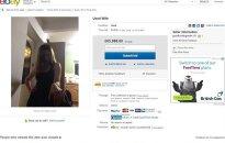 Simonas O'Kane įdėjo į eBay skelbimą, kad parduoda savo žmoną. eBay nuotr.
