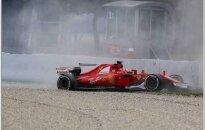 Kimi Raikkonenas patyrė avariją