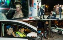 Rugsėjo 1-osios išvakarės Vilniuje: muštynės su policininkais, girti vairuotojai ir dviratininkė